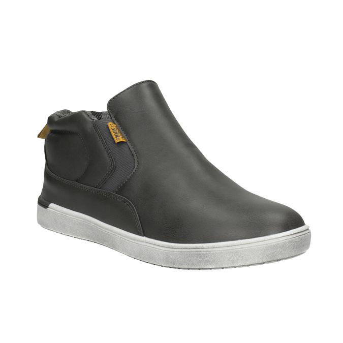 Detská členková obuv v Slip-on štýle north-star, šedá, 411-2603 - 13