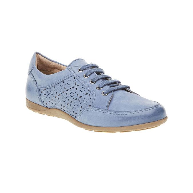 Ležérne kožené tenisky bata, modrá, 524-9511 - 13