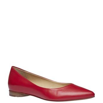 Dámske kožené baleríny do špičky bata, červená, 524-5493 - 13