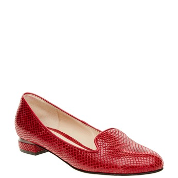 Červené kožené mokasíny bata, červená, 524-5412 - 13