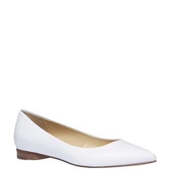 Biele kožené baleríny do špičky bata, biela, 524-1493 - 13