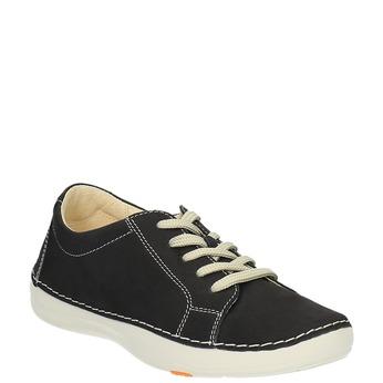 Kožené ležérne tenisky flexible, čierna, 526-6603 - 13