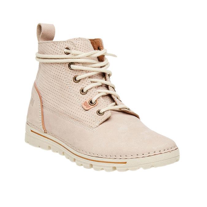 Kožené členkové topánky weinbrenner, béžová, 594-2531 - 13