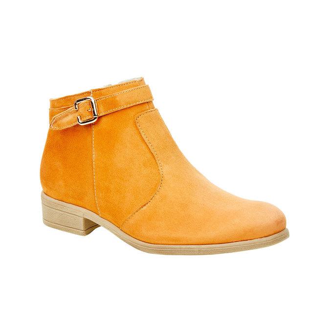 Členkové čižmy z brúsenej kože bata, hnedá, 593-3402 - 13