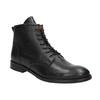 Kožená členková obuv bata, čierna, 594-6263 - 13