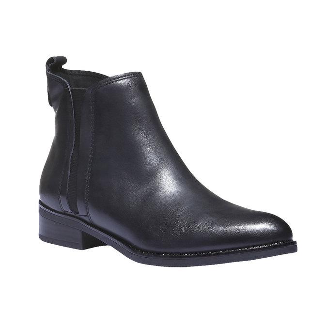 Kožená obuv v Chelsoa strihu bata, modrá, 594-6624 - 13