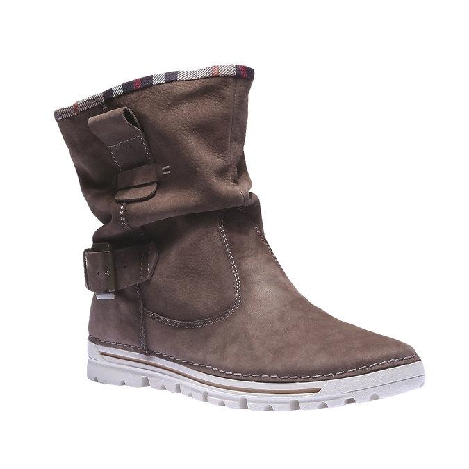 Kožená obuv s farebným lemom weinbrenner, hnedá, 596-4311 - 13