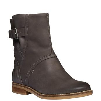 Vysoké kožené topánky bata, šedá, 596-6104 - 13