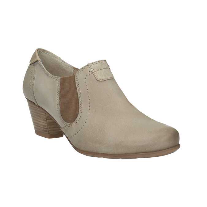 Kožená členková obuv bata, hnedá, 626-8102 - 13