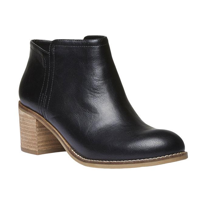 Členkové čižmy bata, čierna, 691-6271 - 13