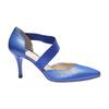 Elegantná kožená remienková obuv bata, modrá, 724-9648 - 13