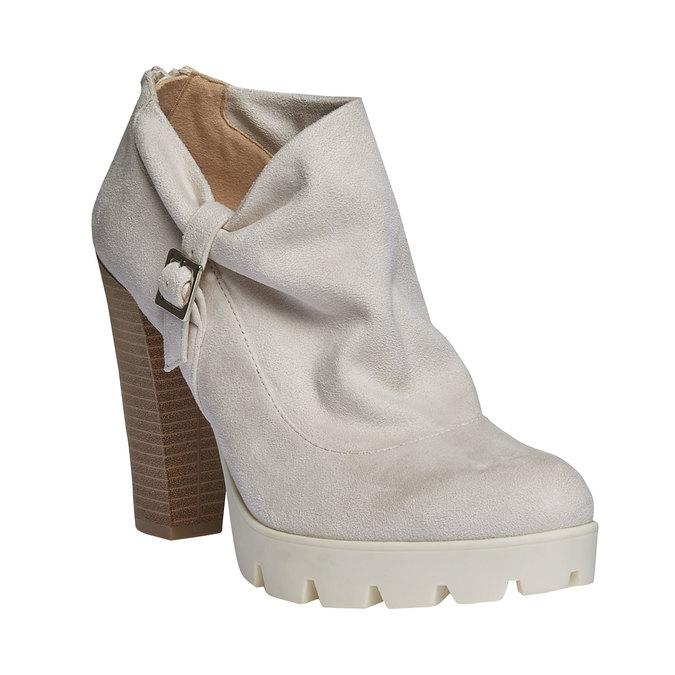 Členkové čižmy s výraznou podrážkou bata, šedá, 799-8630 - 13