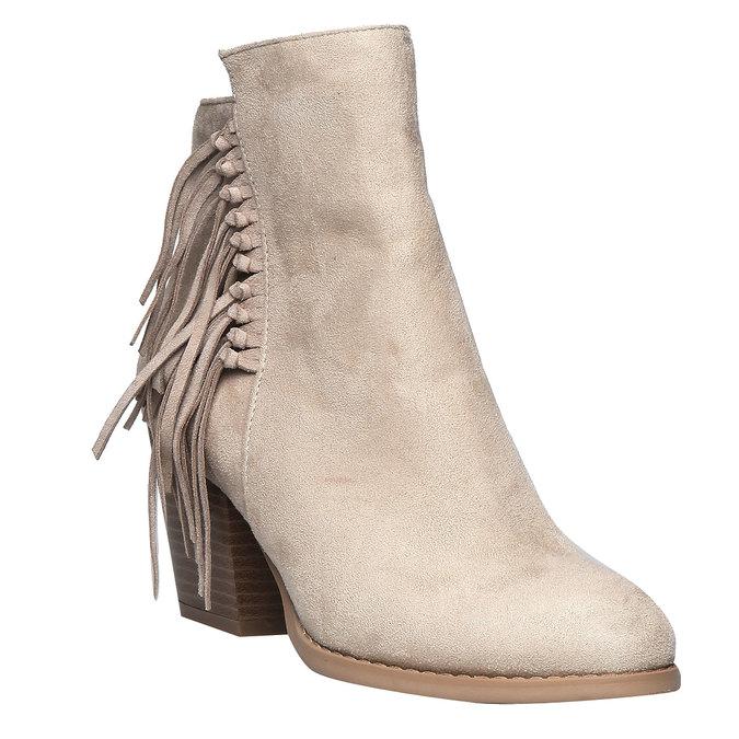 Členkové čižmy s trblietkami bata, béžová, 799-8628 - 13