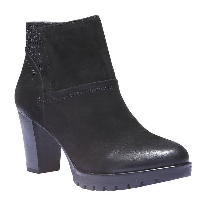 Kožená členková obuv bata, čierna, 796-6122 - 13