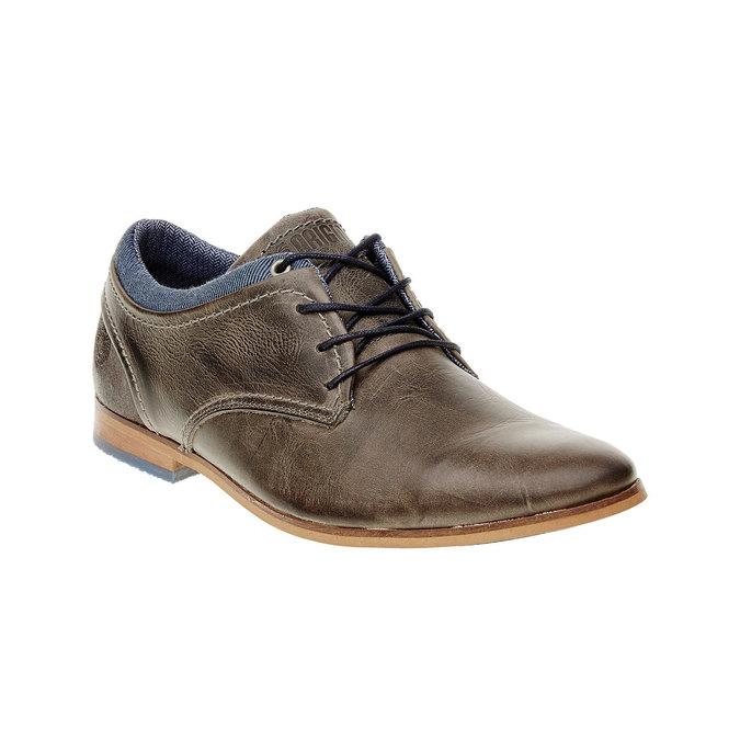 Módne kožené poltopánky bata, hnedá, 824-2102 - 13