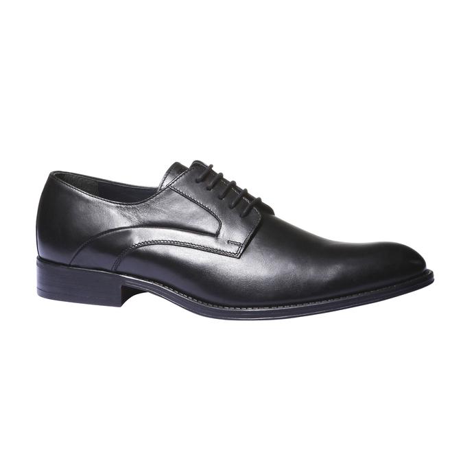 Kožené poltopánky v štýle derby bata, čierna, 824-6108 - 13