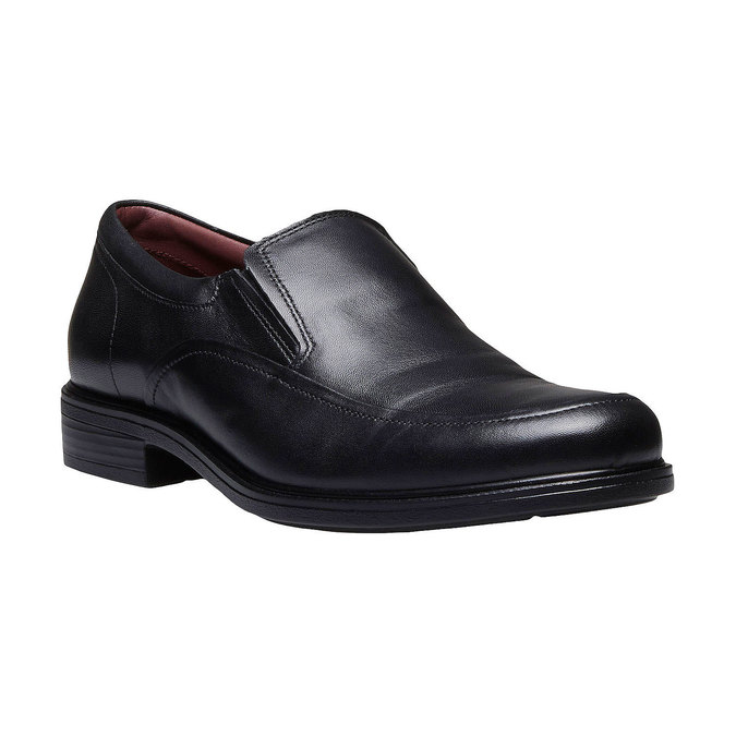 Komfortné poltopánky z kože bata-comfit, čierna, 814-6934 - 13