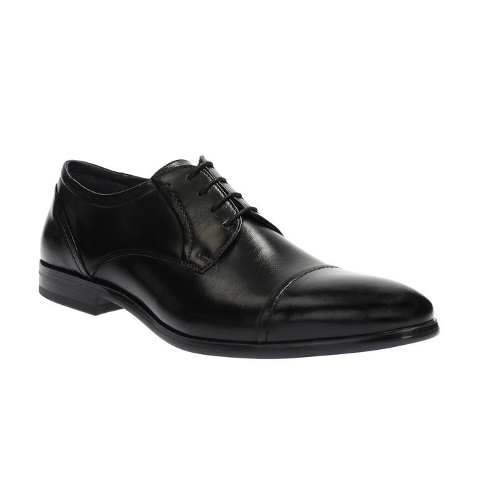 Pánske kožené poltopánky bata, čierna, 824-6710 - 13