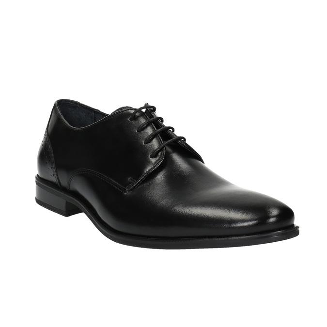 Pánske kožené poltopánky bata, čierna, 824-6705 - 13