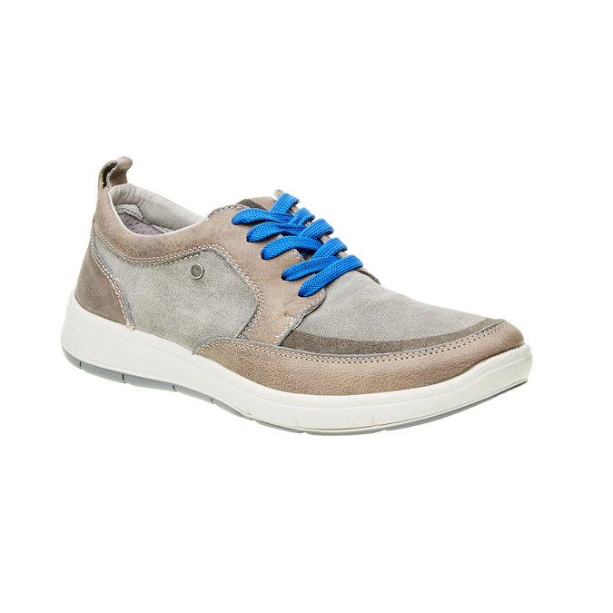 Pánska vycházková obuv, šedá, 843-2631 - 13