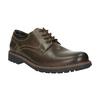 Kožené poltopánky s výraznou podrážkou bata, hnedá, 826-4641 - 13