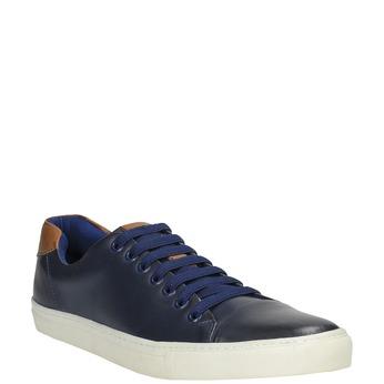 Pánske kožené tenisky bata, modrá, 844-9626 - 13