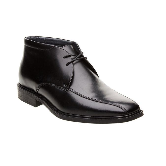 Kožené členkové topánky climatec, čierna, 894-6208 - 13