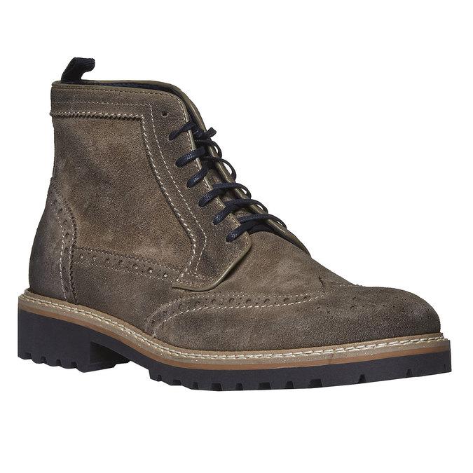 Semišová členková obuv bata, hnedá, 893-2372 - 13
