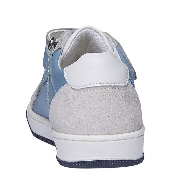 Detské kožené tenisky na suchý zips mini-b, modrá, 214-9153 - 17