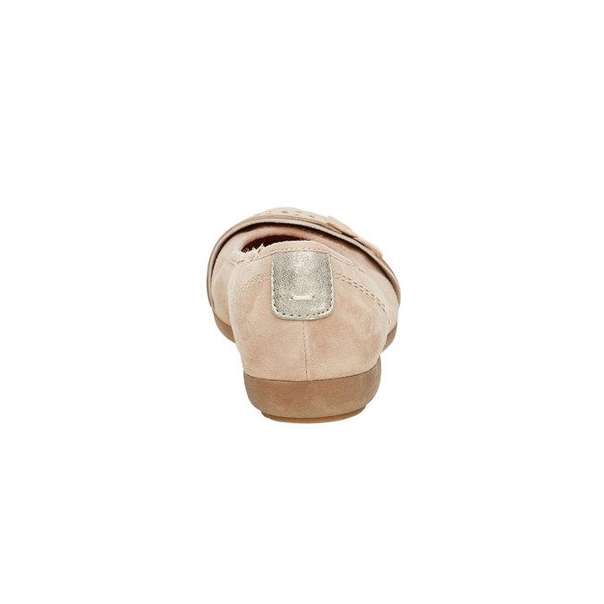 Dámske kožené baleríny bata, hnedá, 526-3103 - 17