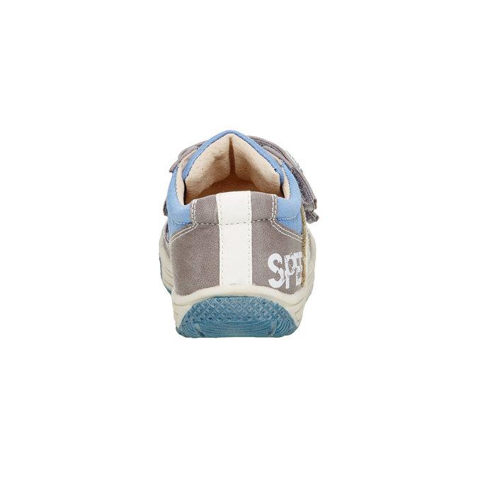 Detské topánky na suchý zips mini-b, šedá, 111-2104 - 17