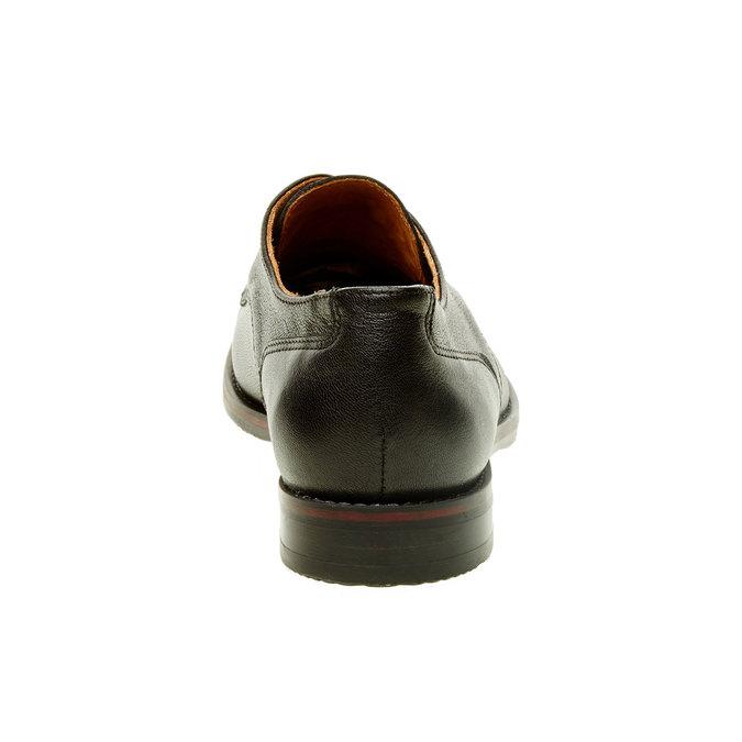 Dámske kožené poltopánky bata, čierna, 524-6117 - 17