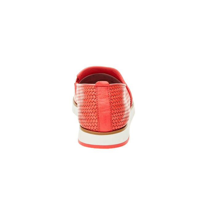 Dámske Slip on s pleteným vzorom flexible, červená, 515-5203 - 17