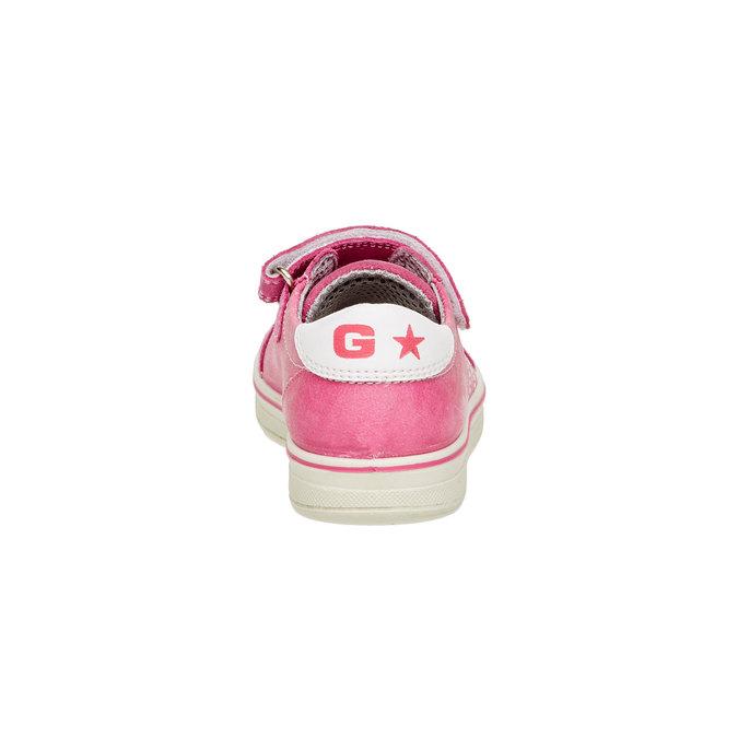 Detské kožené tenisky mini-b, ružová, 223-5120 - 17