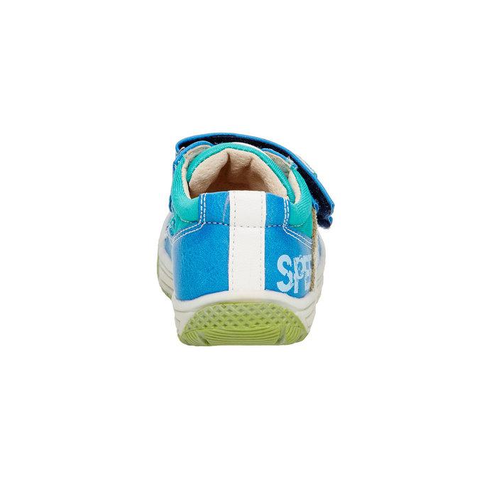 Detské topánky na suchý zips mini-b, modrá, 111-9104 - 17