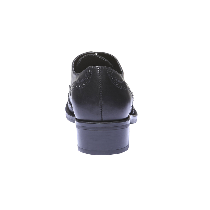 Kožené dámske poltopánky bata, čierna, 524-6185 - 17