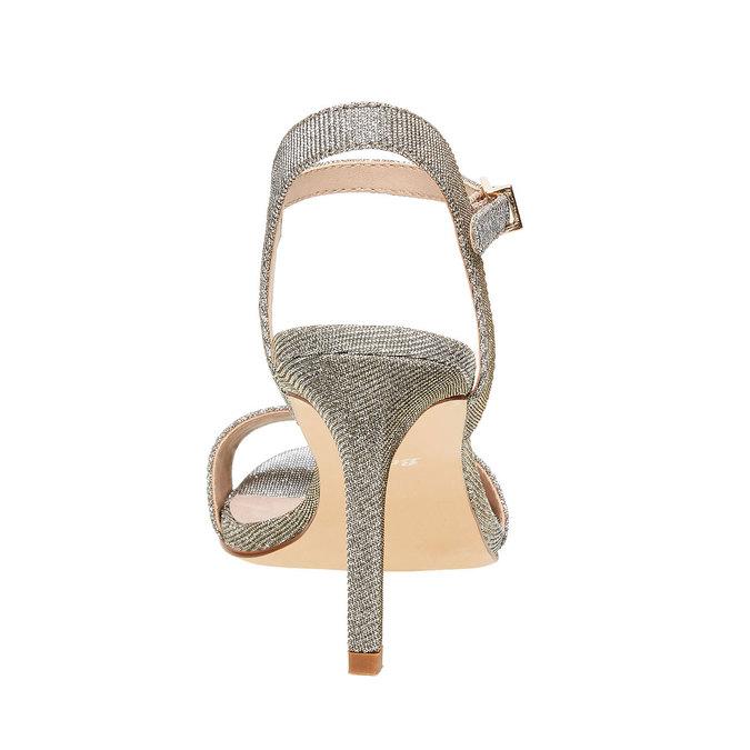 Strieborné sandále na ihličkovom podpätku bata, strieborná, 761-1310 - 17