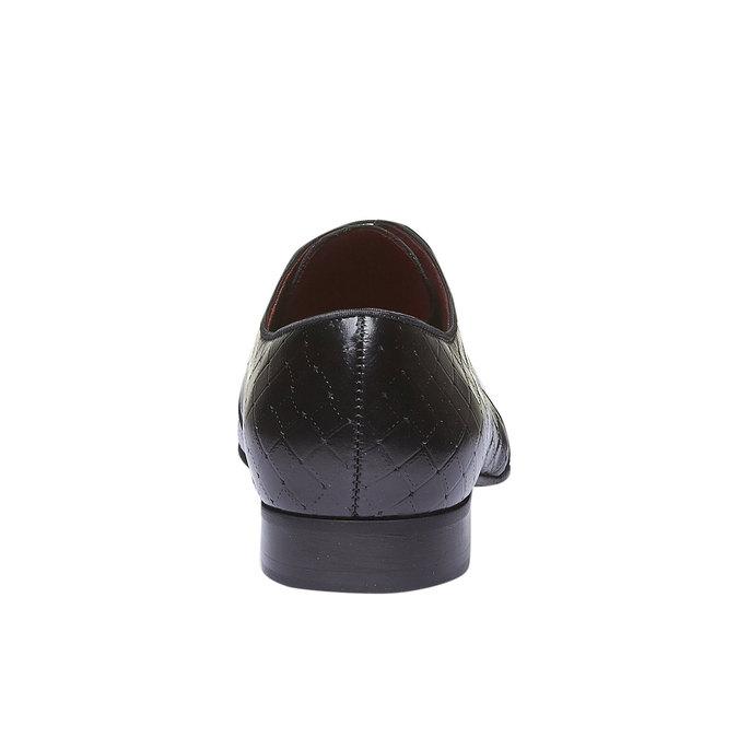Kožené poltopánky v Derby štýle conhpol, čierna, 824-6143 - 17