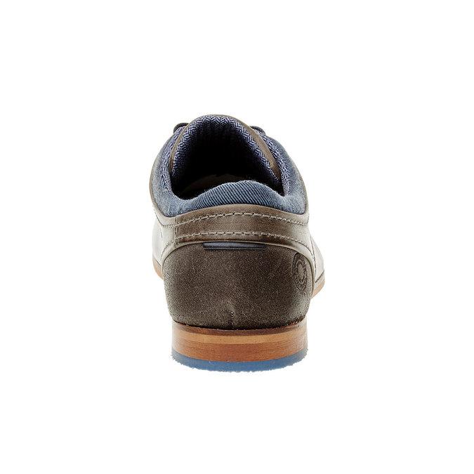Módne kožené poltopánky bata, hnedá, 824-2102 - 17