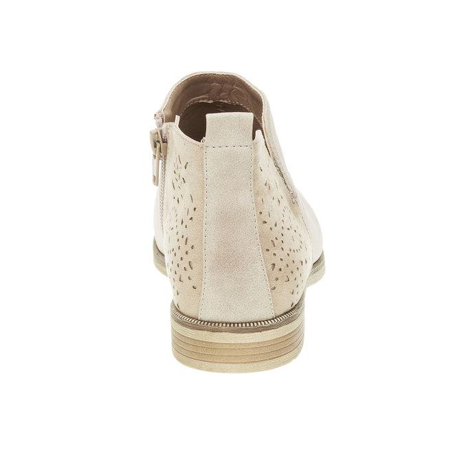 Jarné členkové čižmy bata, biela, 591-8100 - 17