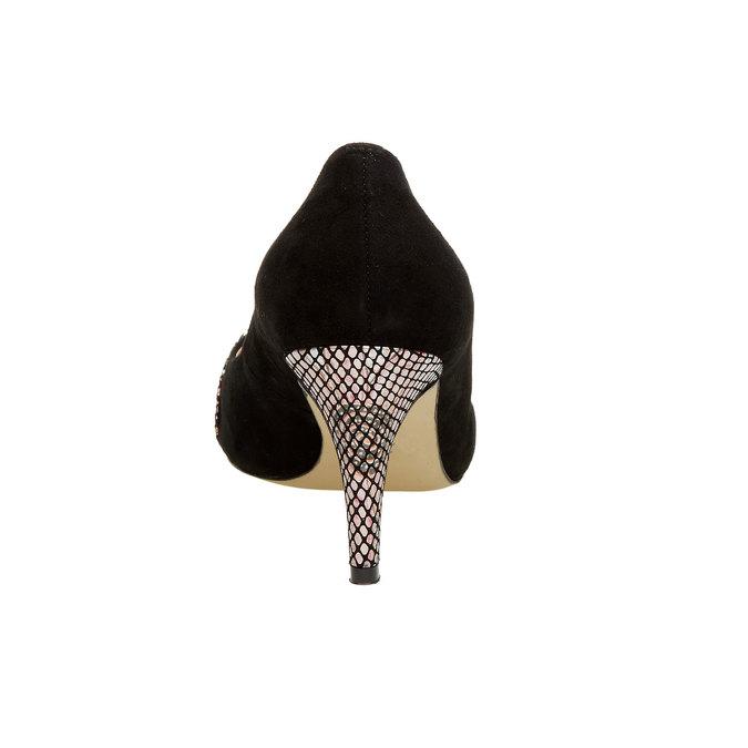 Kožené lodičky s aplikáciou bata, čierna, 723-6104 - 17