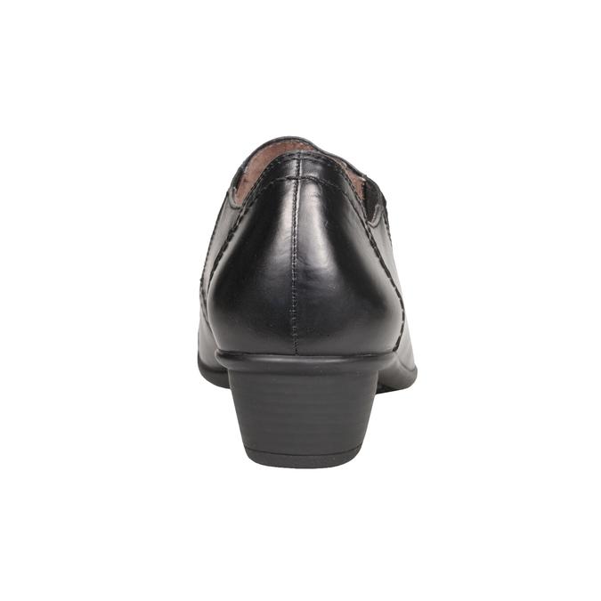Dámska kožená obuv bata, čierna, 624-6113 - 17
