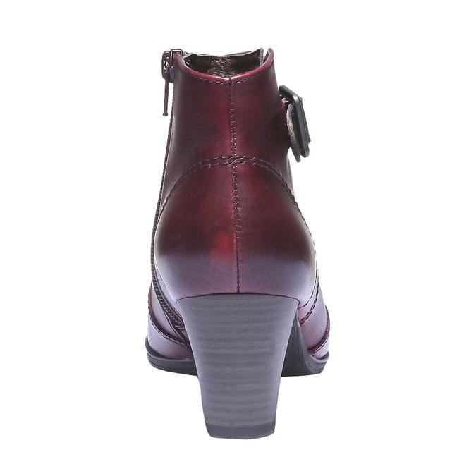 Dámska členková obuv bata, červená, 794-5100 - 17