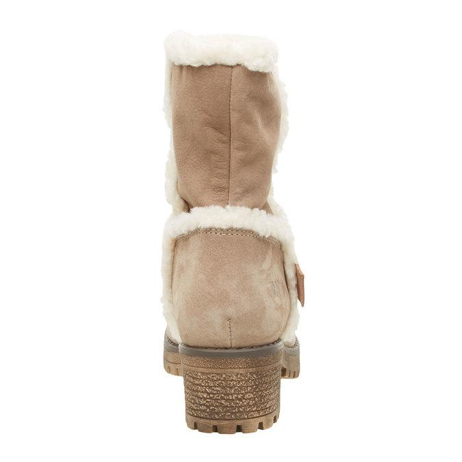 Kožená členková obuv s kožušinou weinbrenner, šedá, 696-2169 - 17