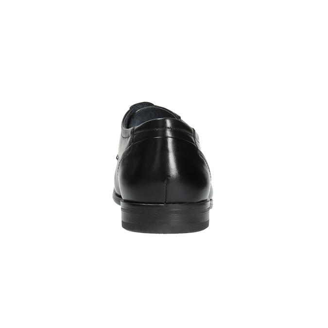 Pánske kožené poltopánky bata, čierna, 824-6710 - 17