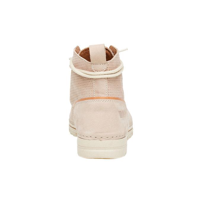 Kožené členkové topánky weinbrenner, béžová, 594-2531 - 17