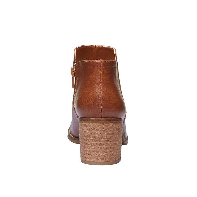 Členkové čižmy na širokom podpätku bata, hnedá, 691-3271 - 17