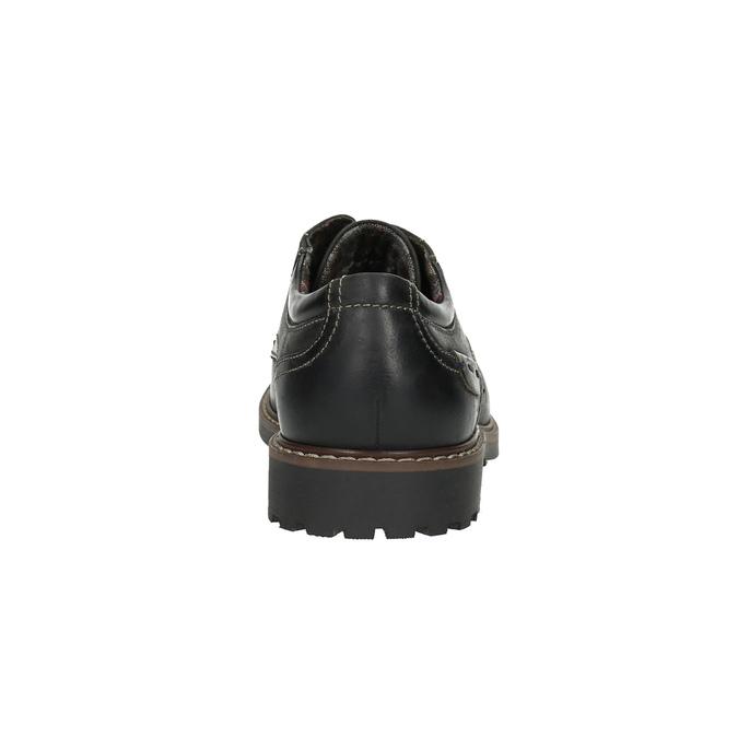 Kožené poltopánky s výraznou podrážkou bata, čierna, 826-6641 - 17