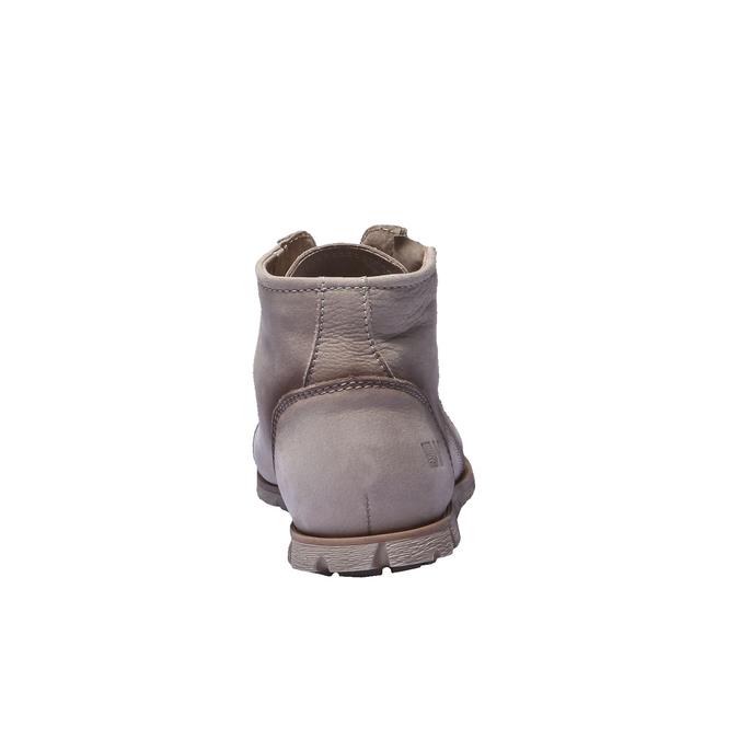 Dizajnová kožená obuv weinbrenner, šedá, hnedá, 544-2145 - 17