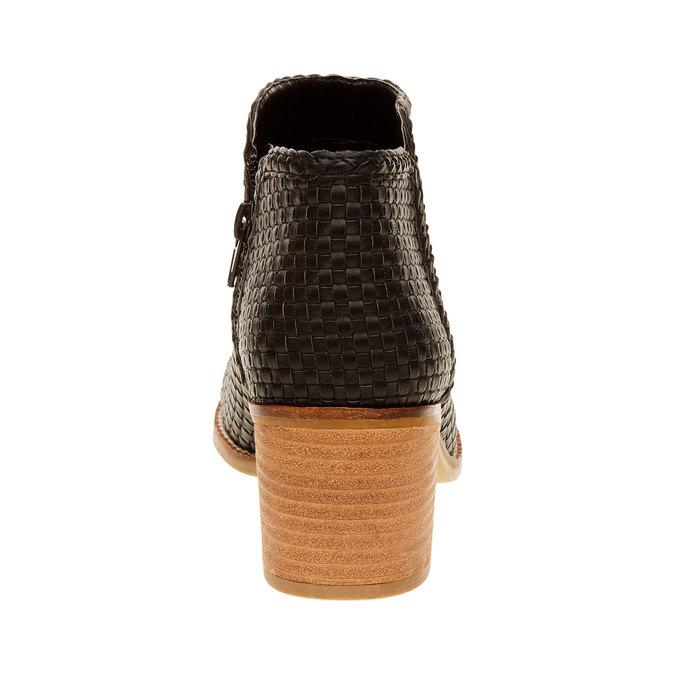 Členkové čižmy v pletenom designe bata, čierna, 691-6273 - 17